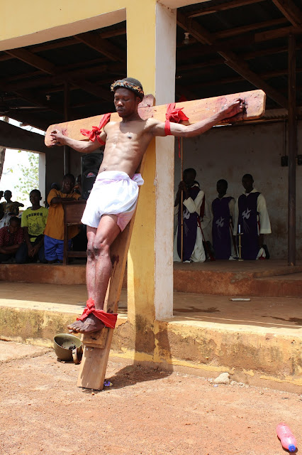 Jesus Is Crucified ____Photo/Video Speak: Saint Anthony Parish Otukpo Passion Of Christ (Passion Play) 2017___