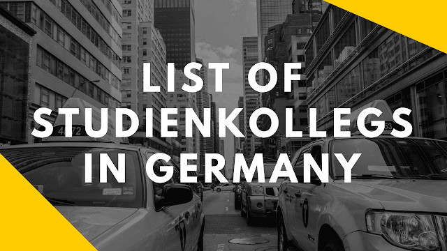 List of the Studienkollegs in Germany