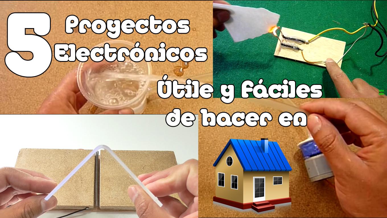inventos tecnologicos faciles de hacer para el colegio