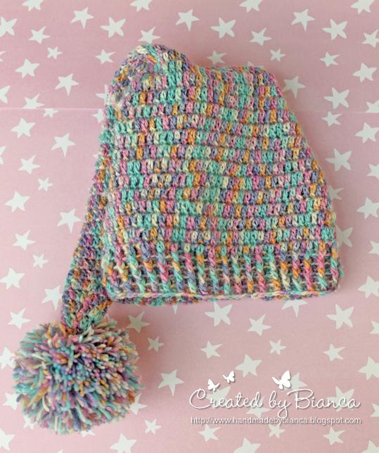 Handmade By Bianca Einfache Baby Zipfelmütze Gehäkelt
