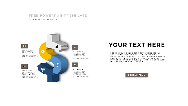 Free PowerPoint Template with 3D Puzzle and Sign Infographic Elements Slide 5