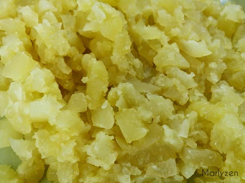 Purée de pommes de terre.