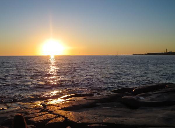auringonlasku mäntyluodossa porissa aurinko laskee mereen missä kuvata auringonlasku