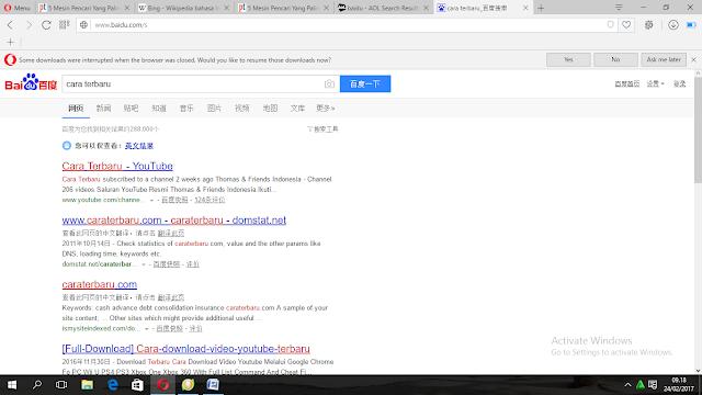 mesin pencari selain google terbaru