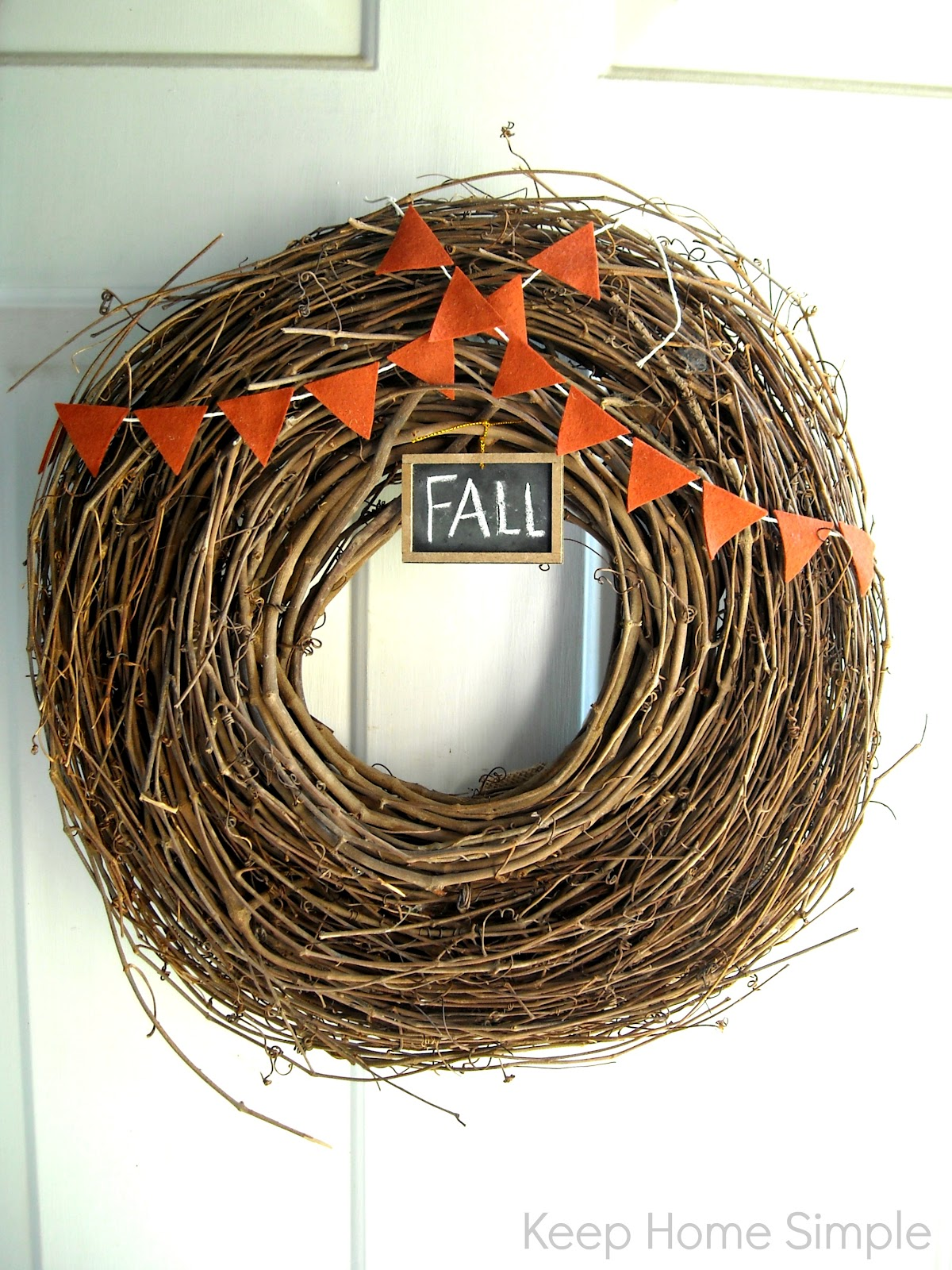 Keep Home Simple New Entry Light: Keep Home Simple: Happy Fall