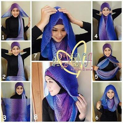 Tutorial Style Hijab Pashmina Tanpa Peniti