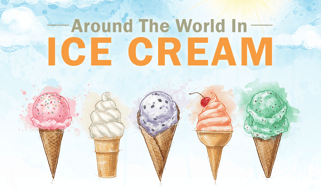 Around the World in Ice Cream #Infographic