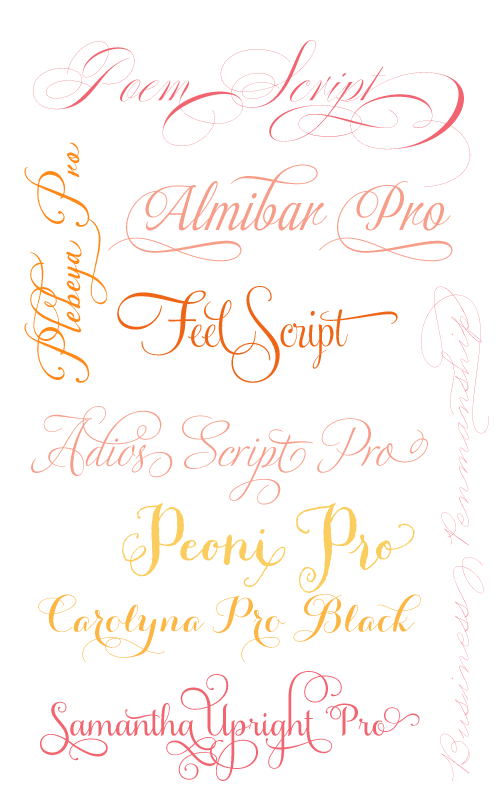 Fancy Fonts. Fancy Girl Design Studio