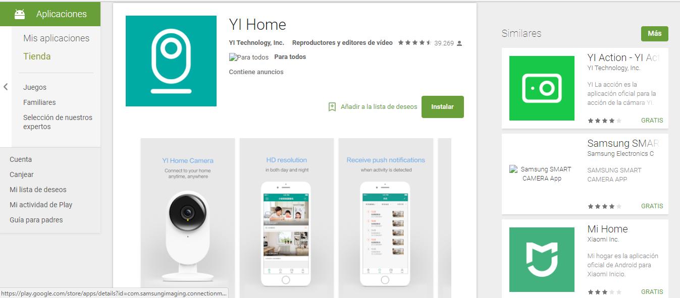 Descarga la Camara YI Home 2.20.20 Apk para Android