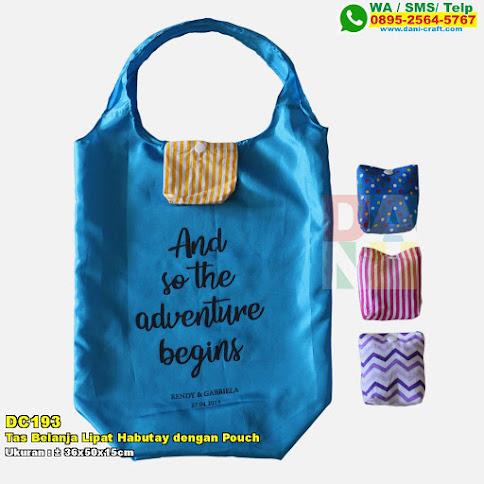 Tas Belanja Lipat Habutay Dengan Pouch