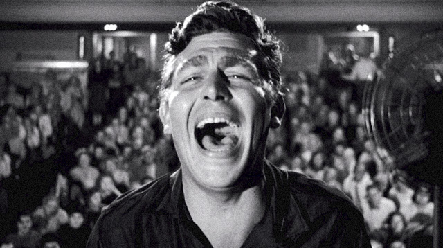 Andy Griffith as Larry 'Lonesome' Rhodes, in A Face in the Crowd, Directed by Elia Kazan