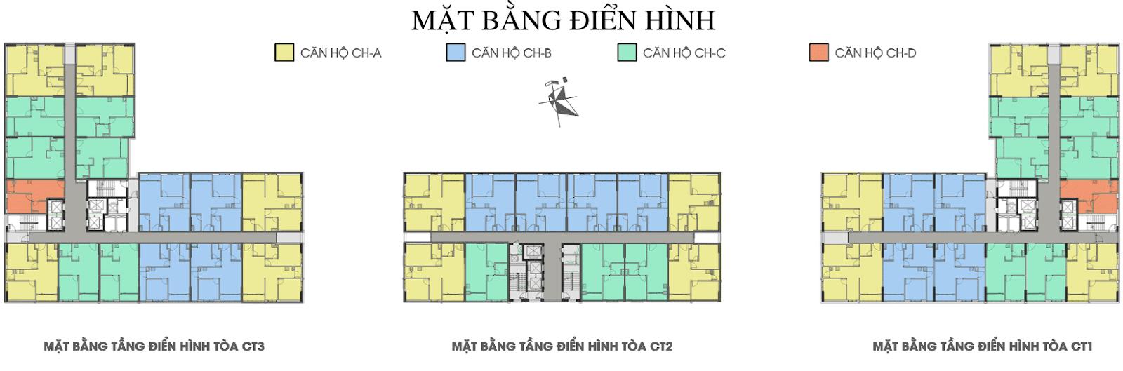Mặt bằng điển hình dự án chung cư Xuân Mai Tower