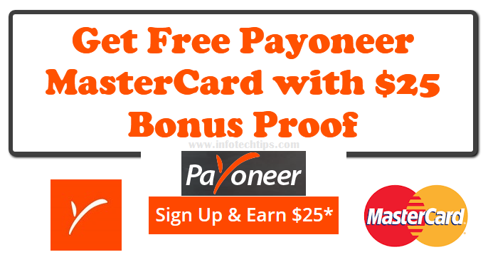 MasterCard with $25 Bonus