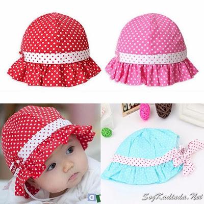 yazlık bebek şapkaları