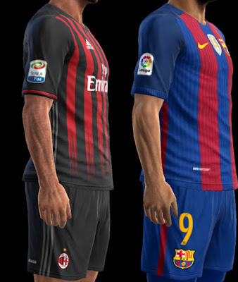 PES 2013 Serie A and LFP new sleeve patches by BK-201