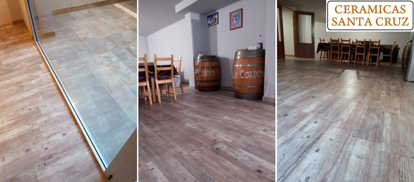bodega con suelo de gres imitacin madera en tudela navarra - Baldosas Imitacion Madera