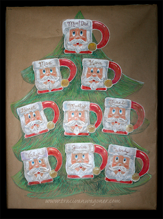 Santa Mug Color Pencil Art by Traci Van Wagoner