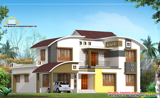 Modern contemporary home design - 265 Square meter (2850 Sq. Ft.)- February 2012