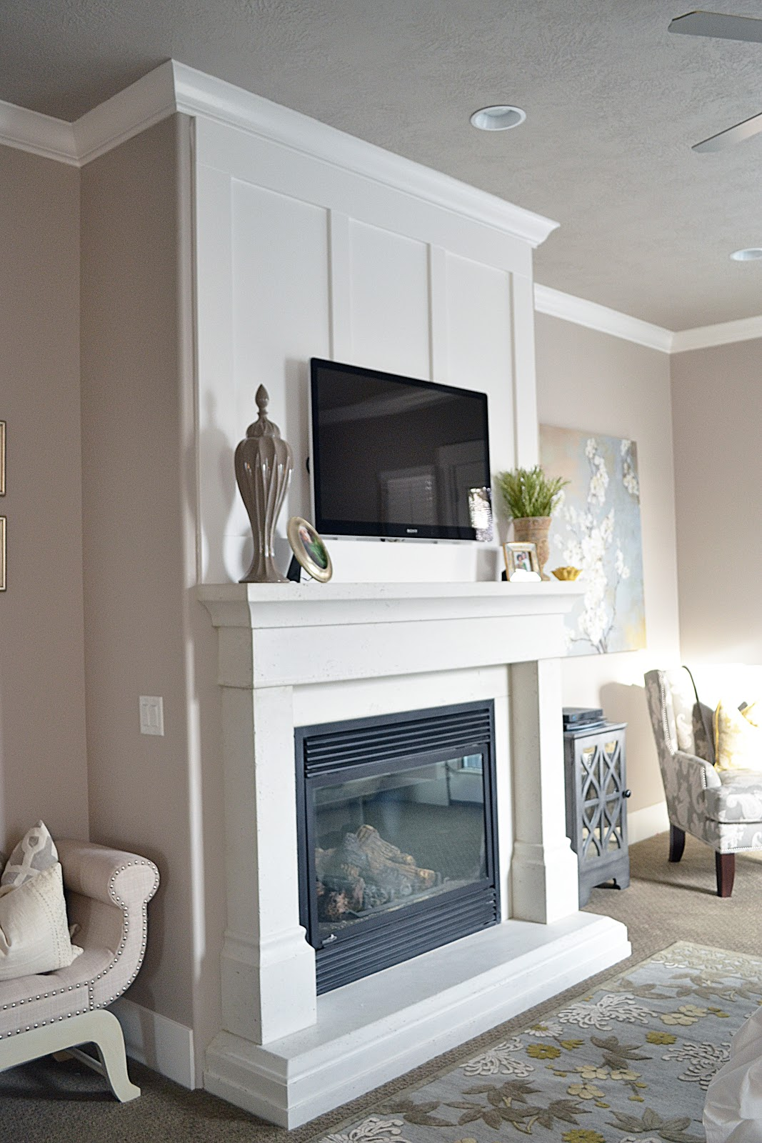 Sita Montgomery Interiors Master Bedroom Fireplace