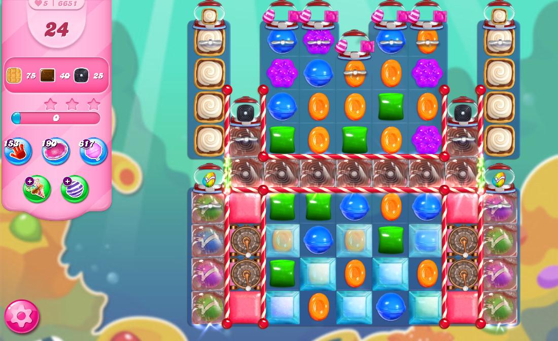 Candy Crush Saga level 6651