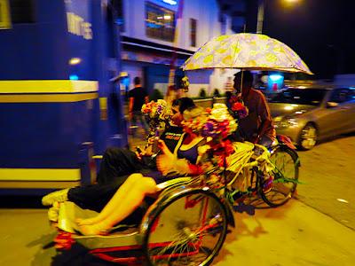 Oriental style nightlife on holiday
