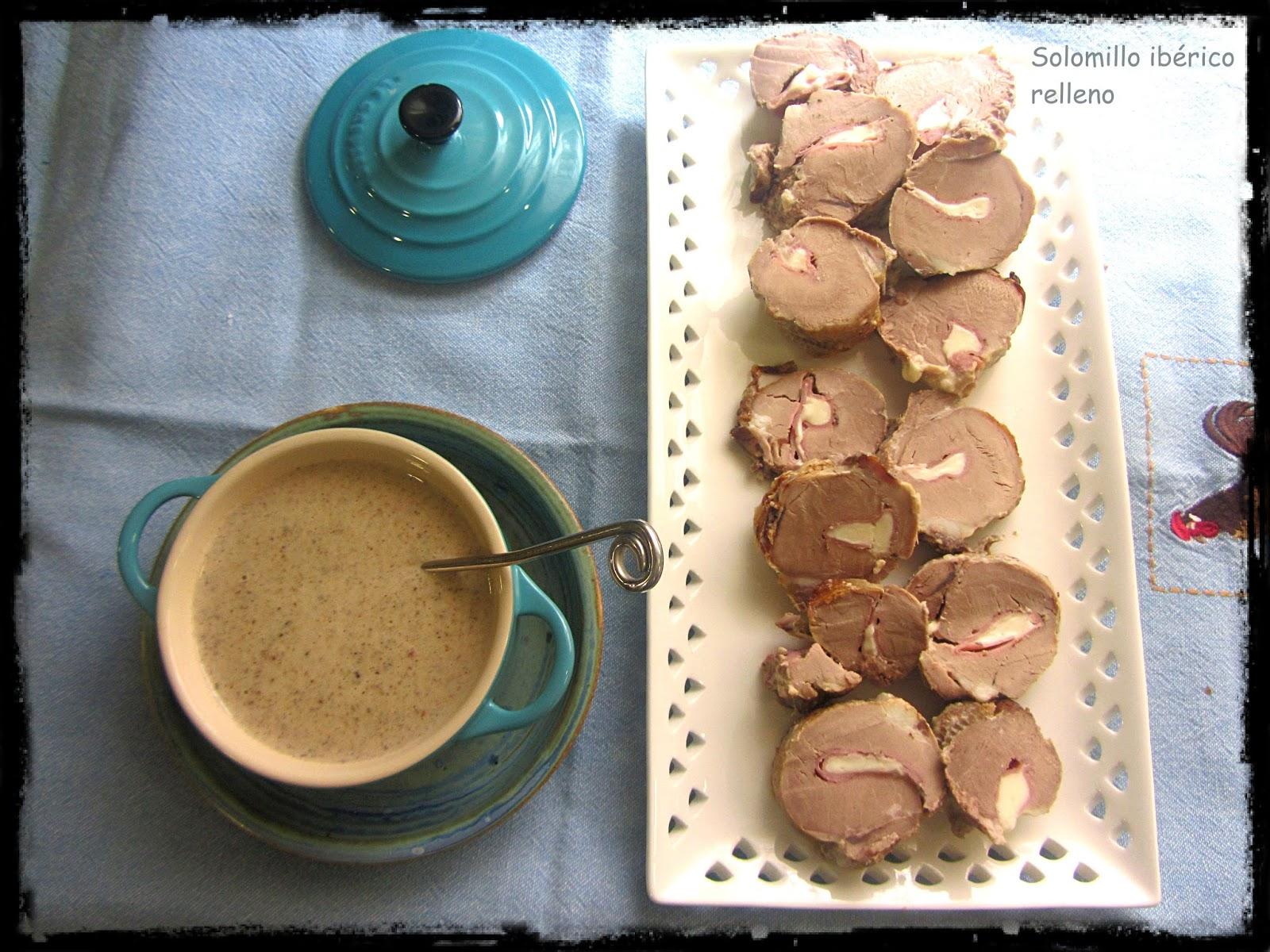 Solomillo ib rico relleno en salsa de setas recetas de Solomillo iberico al horno