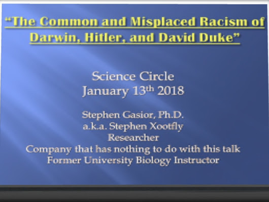 """Let's talk about racism."" , science circle event ."
