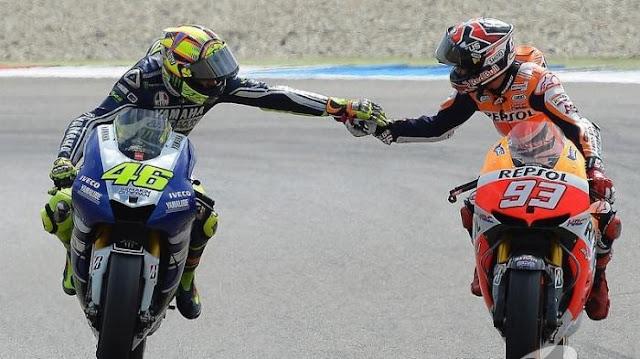 Valentino Rossi Akui Marc Marquez Memang Pantas Jadi Juara MotoGP 2016