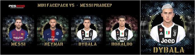PES 2018 Mini Facepack v5 by Messi pradeep