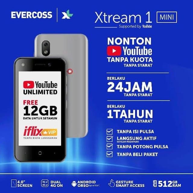 Spesifikasi dan harga evercoss Xtream 1 mini M40A