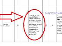 Format Rapor Kurikulum 2013 SD Berdasarkan Aturan Penilaian Terbaru