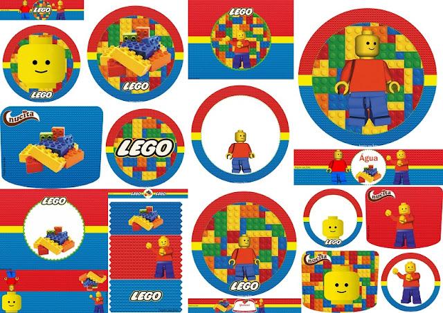 Fiesta de Lego: Toppers y Etiquetas para Candy Bar para Imprimir Gratis.