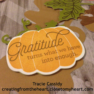 close to my heart, sotm, fall decor, pumpkins, gratitude