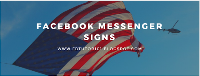 Facebook Messenger Signs