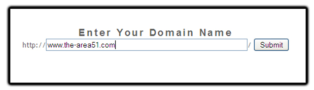 enter domain name