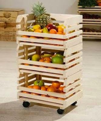 DIY: frutero con ruedas