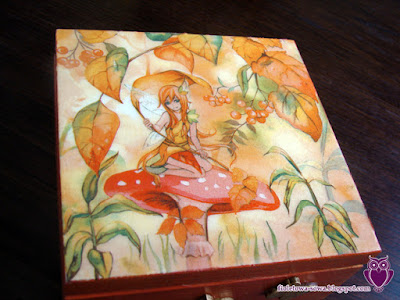 Decoupage fairy teabox