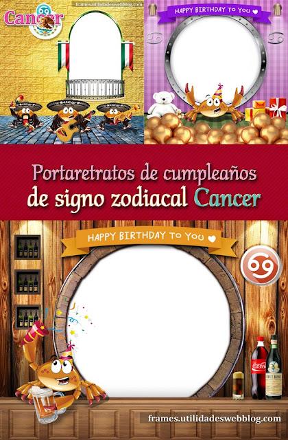 3 marcos para fotos del signo cancer