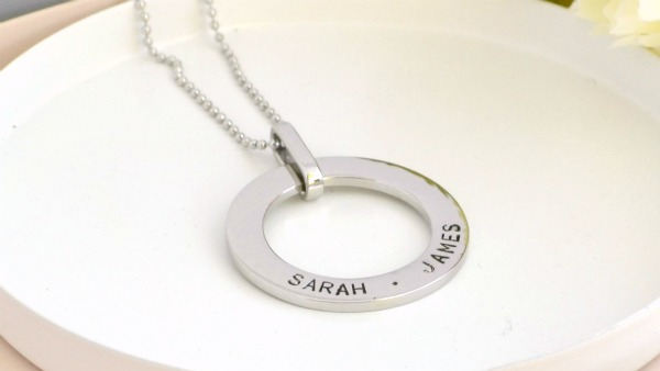 Medium Name Washer Pendant