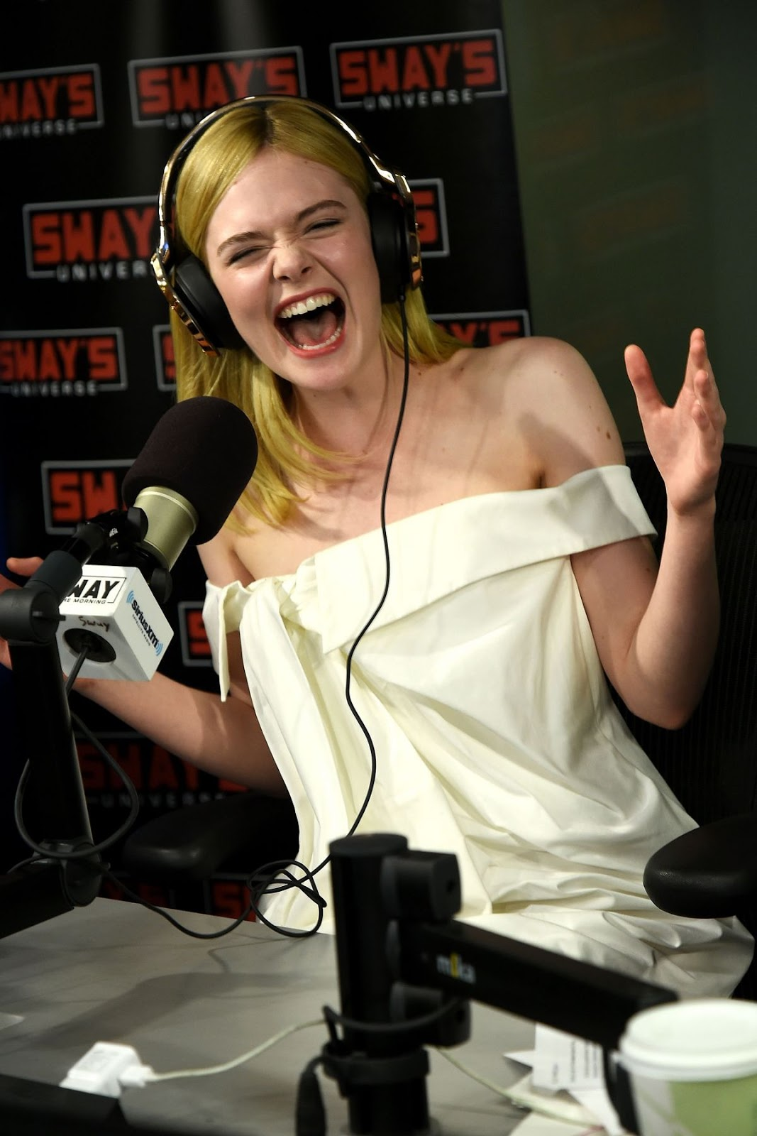 HQ Photos of Elle Fanning At Siriusxm Radio In New York