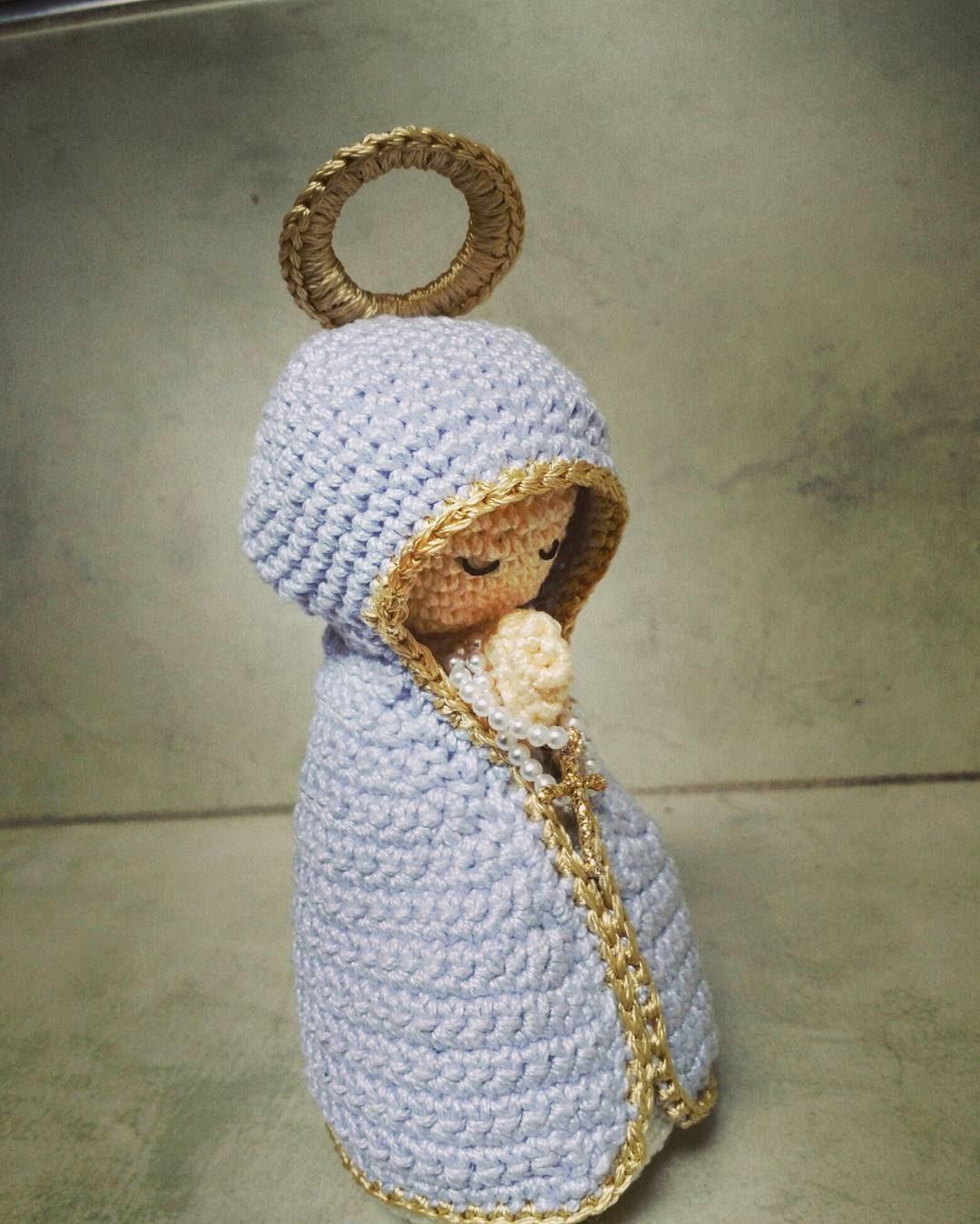 Virgencita: patrón paso a paso - Tejiendo lindo - Graciela Gaudi