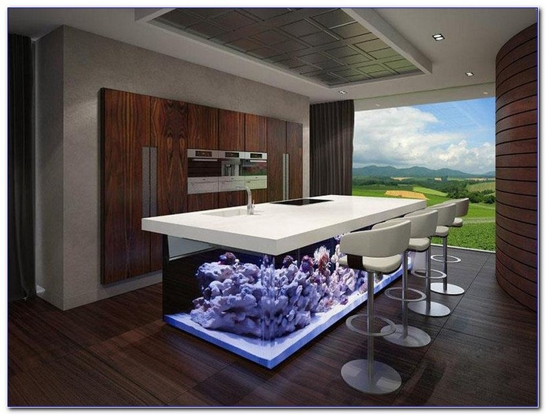 Kitchen Island Fish Tank Home Interior Exterior Decor Design Ideas