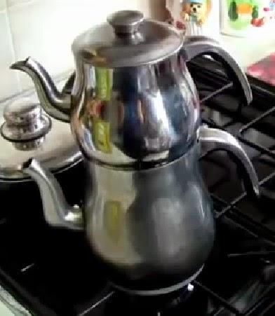 ibric dublu pentru ceai