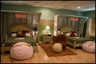 Dormitorios para ni os tema deportes colores en casa - Decoracion habitaciones juveniles nino ...
