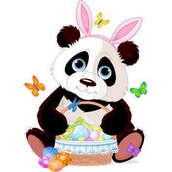 Easter Bunny Panda