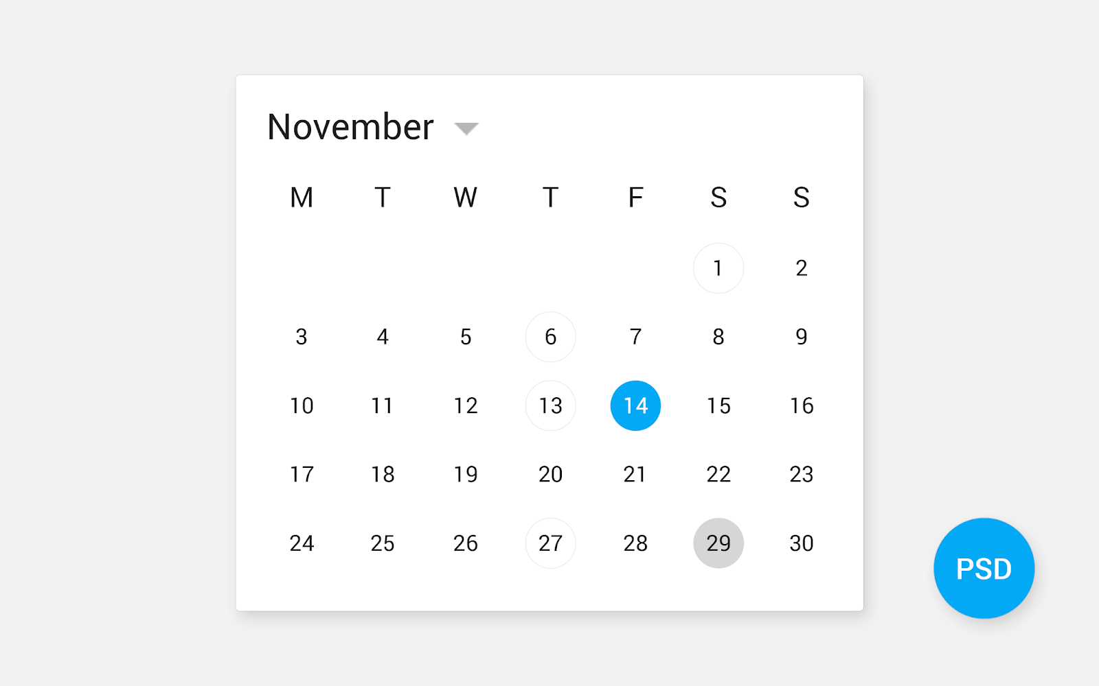 Calendar Design Idea For App And Website
