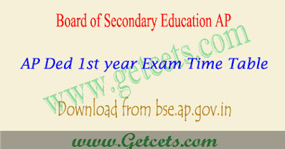 AP Ded 1st year time table 2021 pdf, 2019-21 batch 1st sem exam dates