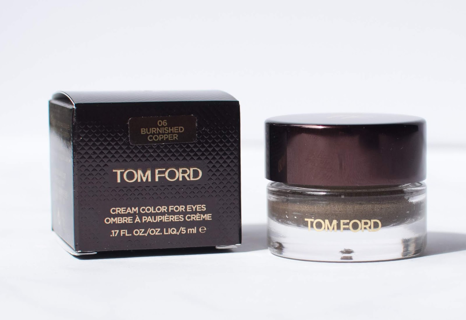 Tom Ford Cream Color for Eyes in Burnished Copper - Swatch, Review, and Photos