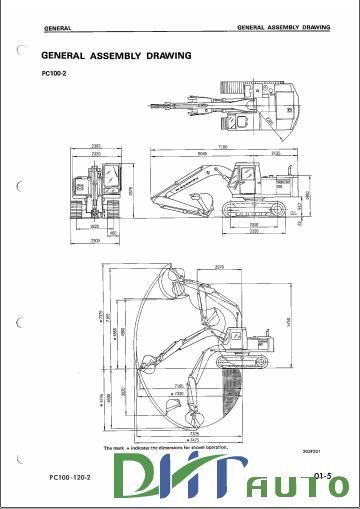 Free Automotive Manuals: KOMATSU PC100-100L-2, PC120-2