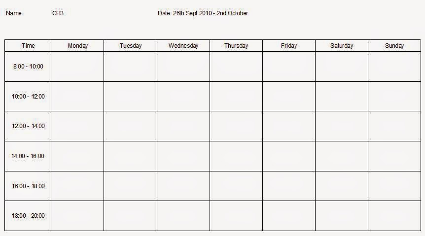 Revision Timetable Template Gcse